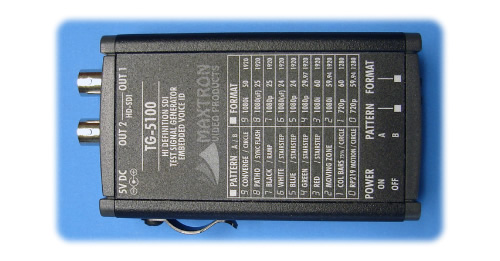 Handheld SD/HD SDI Pattern Generators + 16 Channel Voice ID's
